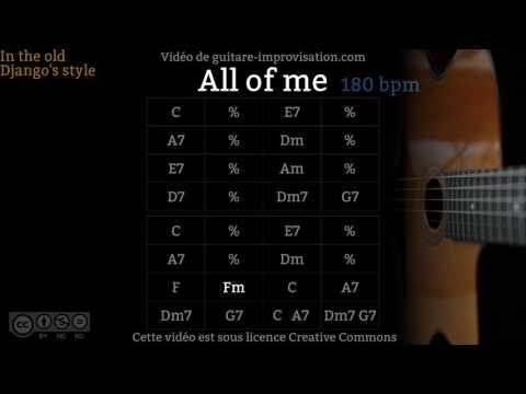 All of Me (180 bpm) - Gypsy jazz Backing track / Jazz manouche