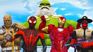 HULK Maestro VS Superheroes - Spiderman PS5, Iron Man Extremis, Deadpool Sheriff, Korg
