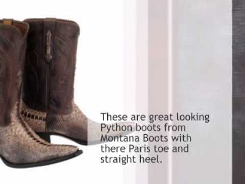 Montana BootsBrown Python Cowboy Boots - timsboots.com