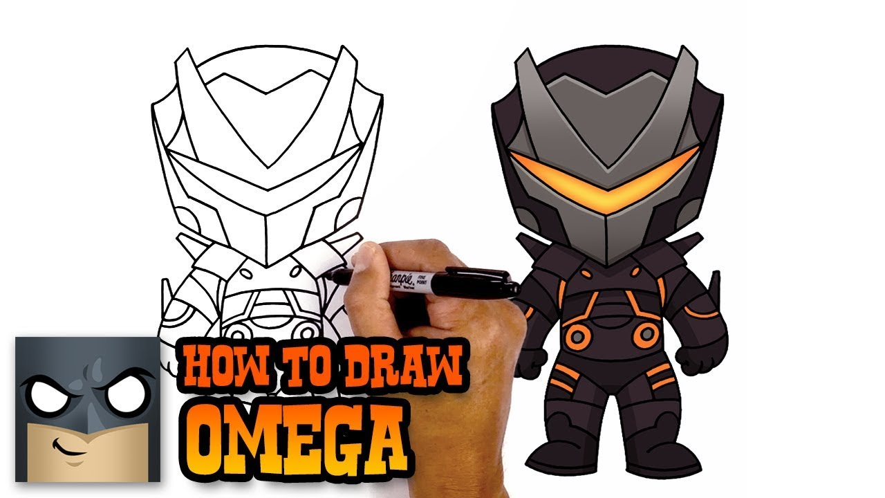 How To Draw Omega Fortnite Art Tutorial Youtube