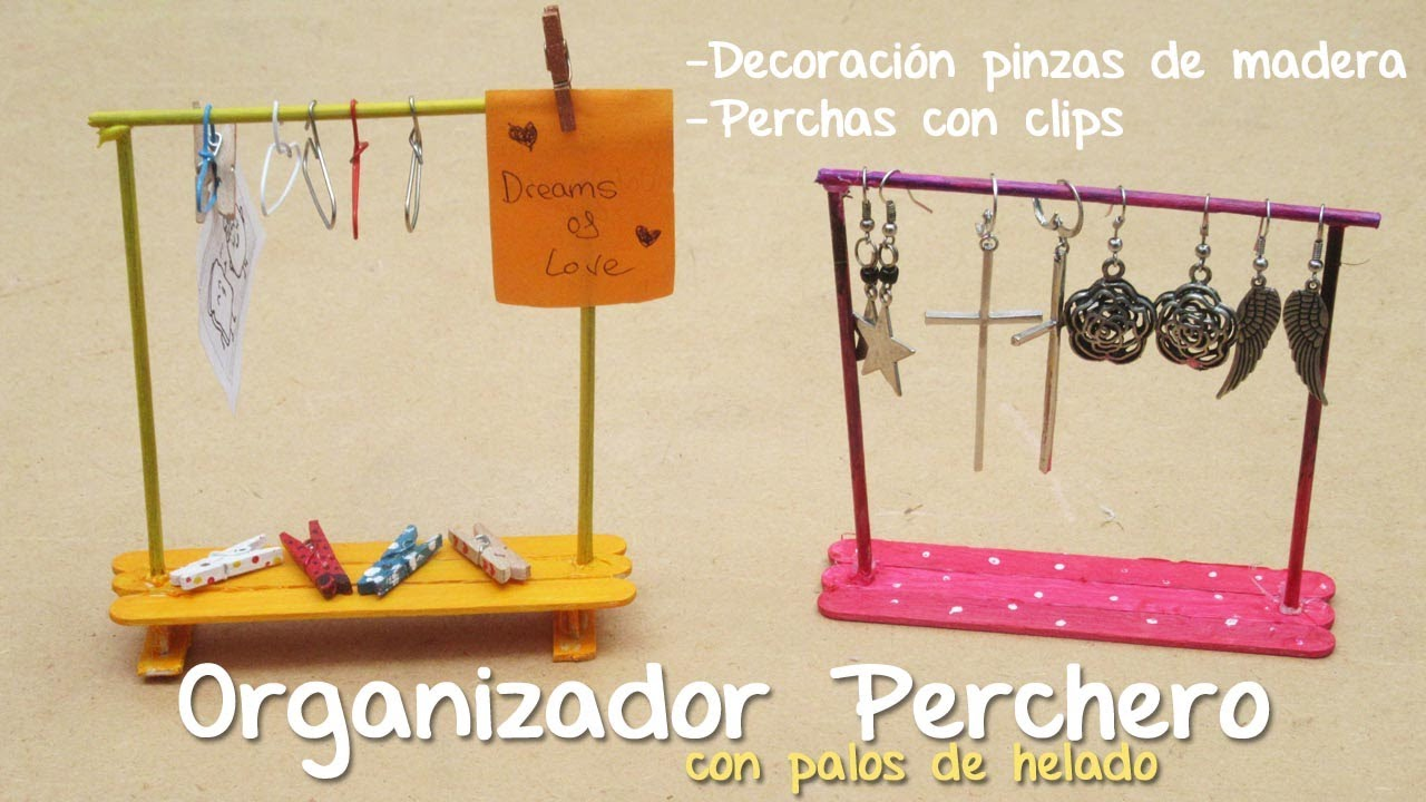 Organizador perchero haz perchas con clips decoraci n for Perchas con pinzas