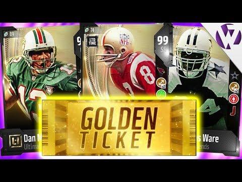 *GOLDEN TICKET DAY* LTD LARRY WILSON, UL DAN MARINO + UL DEMARCUS WARE - Madden 18 Pack Opening