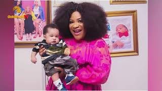BENZ OWNER NKECHI BLESSING SUNDAY DEDICATES 3 MONTH OLD SON TO GOD