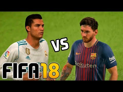 Real Madrid vs Barcelona | FIFA 18 - Santiago Bernabéu