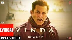 LYRICAL: 'Zinda' Song  | Bharat | Salman Khan |Julius Packiam & Ali Abbas Zafar ft. Vishal Dadlani