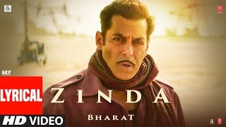 LYRICAL: 'Zinda' Song  | Bharat | Salman Khan | Julius Packiam & Ali Abbas Zafar ft. Vishal Dadlani