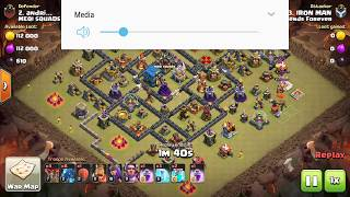 Destroy 100% town hall 12 by air troops|||Live streaming