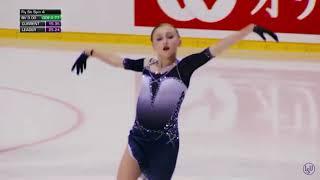 Софья Муравьёва 1 место в короткой программе на юниорском этапе гран при Angels of Plushenko