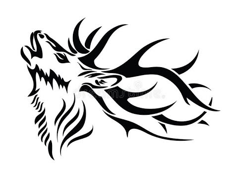 How to draw a deer tattoo comment dessiner un tatouage de cerf youtube - Comment dessiner un cerf ...