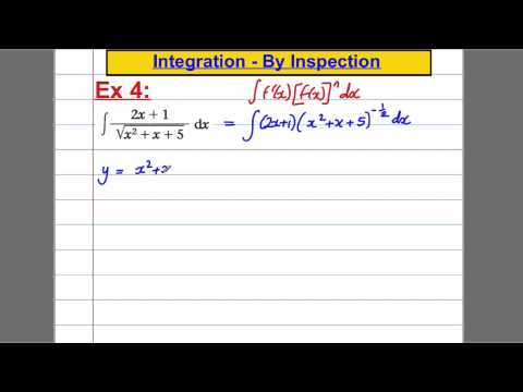 Integration (6) - By Inspection (C4 Maths A-Level)