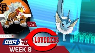 GBA Season 5 Week 8 - San Francisco GiEnteis vs. Cincinnati Loudreds
