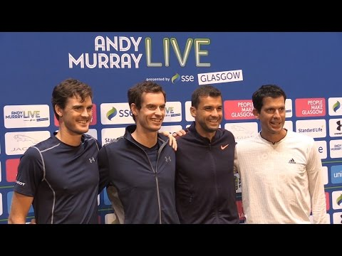 Andy Murray Pre-Match Press Conference Ahead Of 'Andy Murray Live' Event At The SSE Hydro In Glasgow