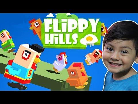 Flippy Hills Gameplay | El Pollito Pio Brincando | Juegos Infantiles para niños