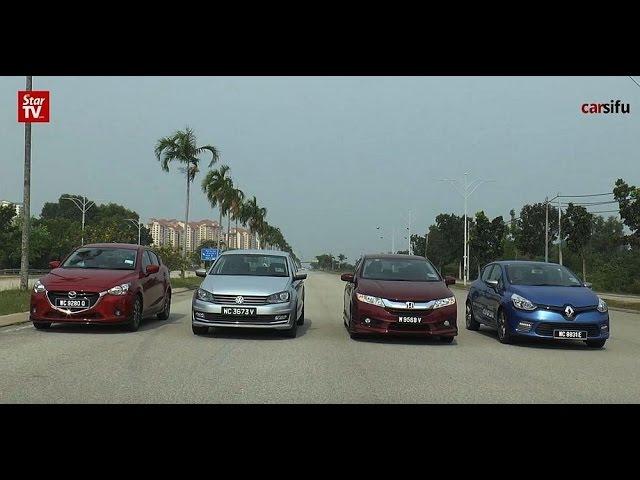 Carsifu Shootout Honda City Vs Vw Vento Vs Mazda2 Sedan Vs Renault Clio Gt Line