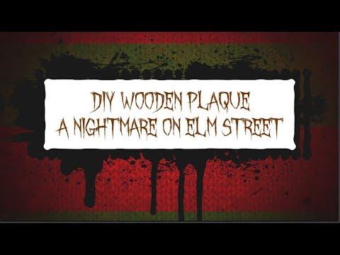 DIY Wooden Plaque: A Nightmare on Elm Street