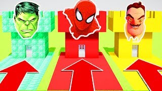 DO NOT CHOOSE THE WRONG CASTLE (HULK, SPIDERMAN , HELLO NEIGHBOUR)(Ps3/Xbox360/PS4/XboxOne/PE/MCPE)