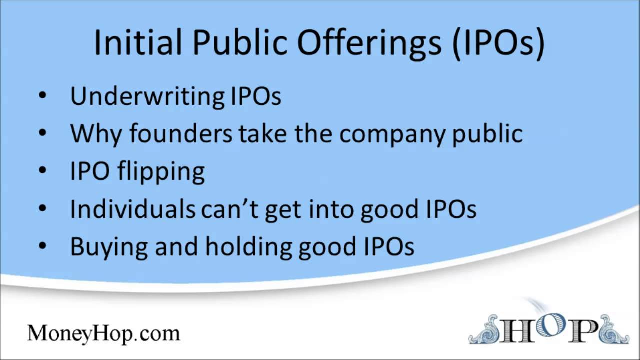 initial public offerings paper An initial public offering (ipo) is the means by which privately held companies transition into publicly traded companies hence the phrase, taking a company public from an organizational standpoint, taking a company public is one of the biggest decisions a company's board of directors will.