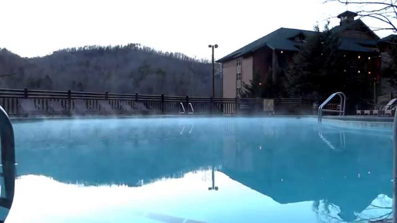 Steam Of Heated Swimming Pool