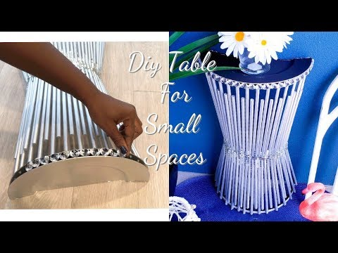 DIY WALL TABLE FOR SMALL SPACES! SIMPLE AND INEXPENSIVE ROOM DECOR IDEAS!