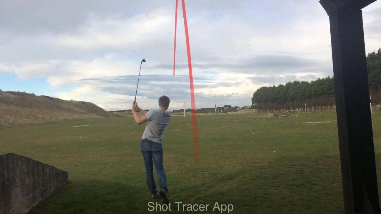 test application shot tracer bons plans golf youtube