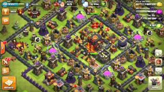 Clash of clans th9 war attack 3 star GOWIHO How to get 3 star on th9 wide base.