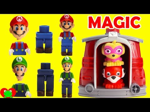 Paw Patrol Finds Super Mario In Marshall's Magical Pup House
