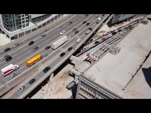 FG Gardiner Expressway York-Bay-Yonge exit ramp Demolition