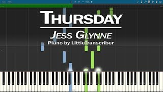 Jess Glynne - Thursday (Piano Cover) Synthesia Tutorial by LittleTranscriber Video