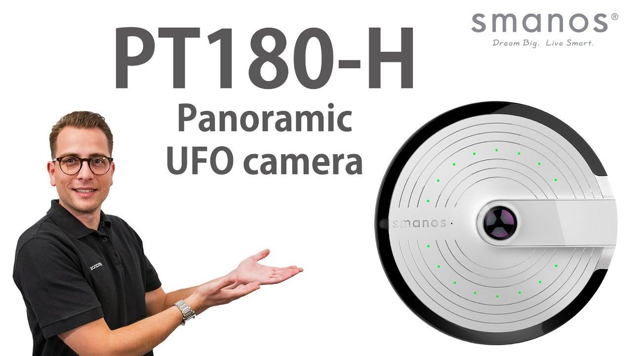 Smanos Open Box Video - UFO Panoramic Wifi HD Camera (PT-180H)