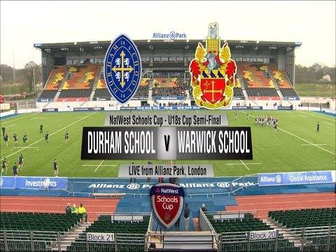 NatWest U18s Cup Semi-Final 2014: Durham School v Warwick School