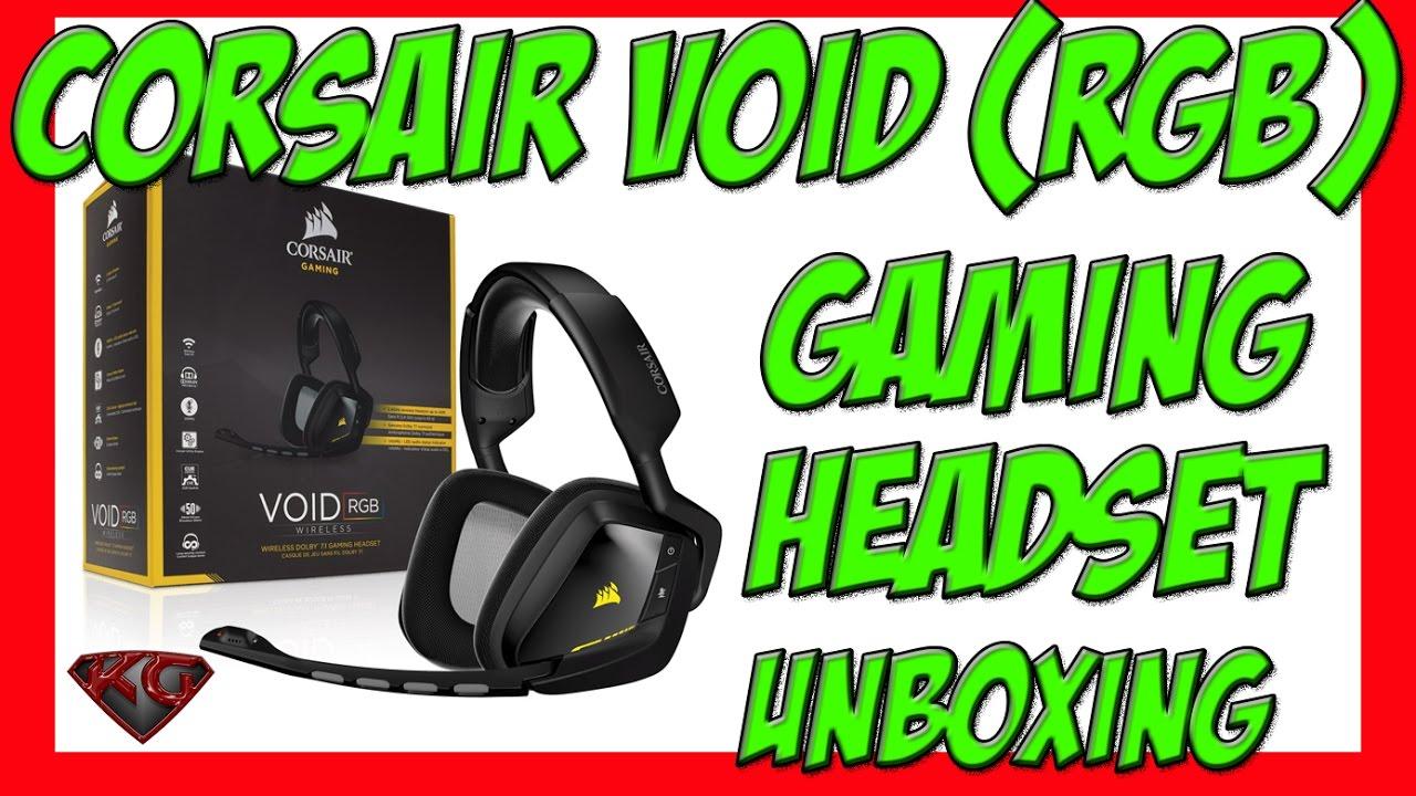 eda7515583d CORSAIR VOID RGB GAMING HEADSET UNBOXING/SETUP - YouTube