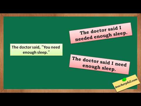 Changing Direct into Indirect Speech