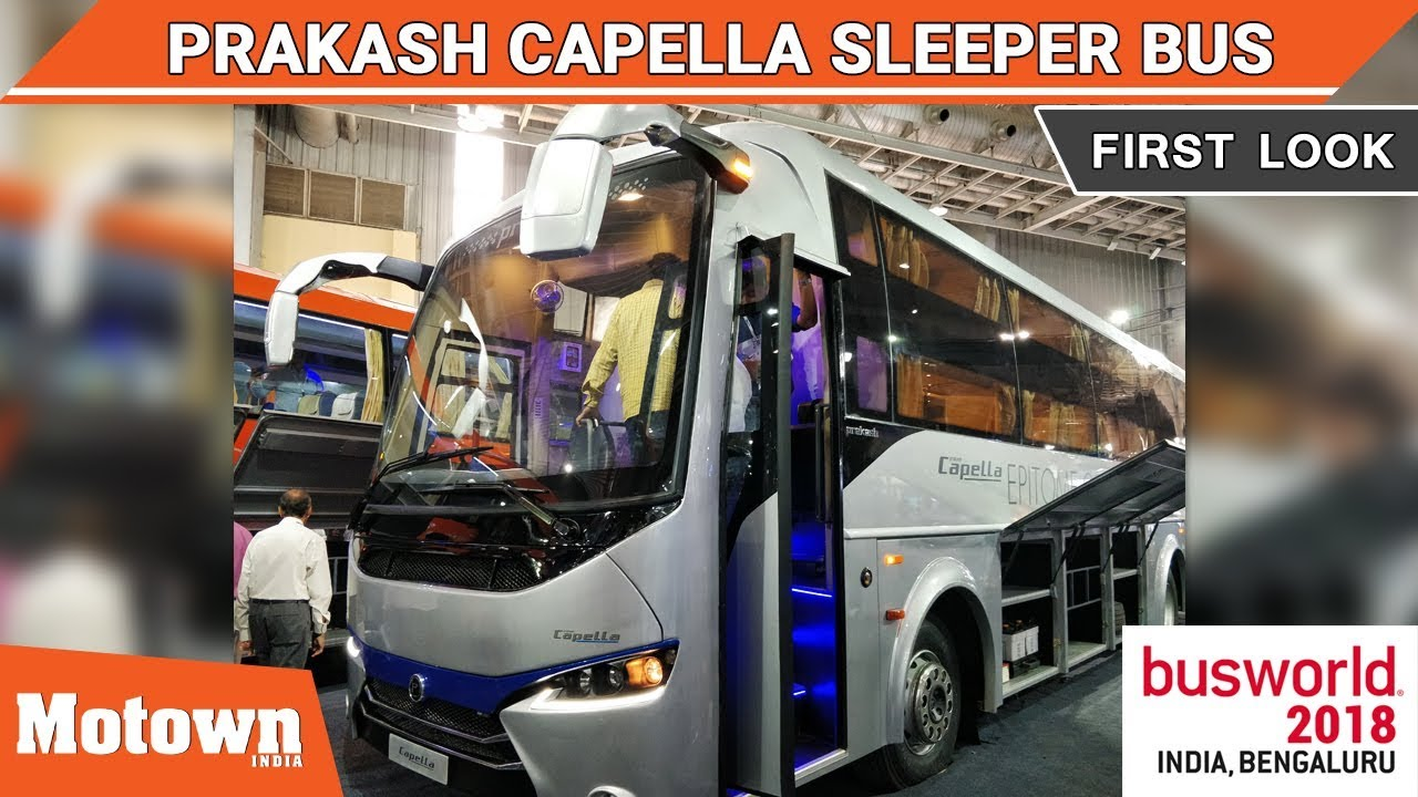 Prakash Capella First Look Busworld India 2018 Motown India Youtube