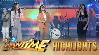 Marielle and Gidget&#39s own rendition of Kahit Ayaw Mo Na with This Band It&#39s Showtim ...