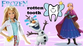 OLAF HAS A ROTTEN TOOTH 😱 OLAF GOES TO DENTIST :(