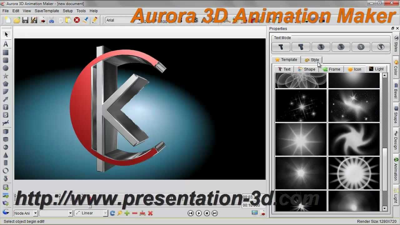 3D Animation Software | Text and Logo Animation Demo | Aurora3D ...