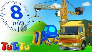 TuTiTu Specials | Machinery Toys for Children | Garbage Truck, Tractor and Crane!