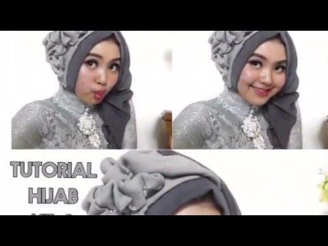 5 Tutorial Hijab Segi Empat Paris Rawis Wisuda Pesta Kondangan Simple by @olinyolina Part 2