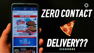 Ordering Dominos Pizza with Zero Contact Delivery during MCO screenshot 3