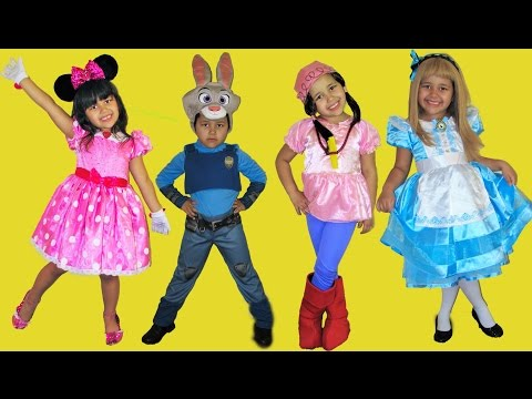 7 Halloween Costumes Disney Dress Up Minnie Mouse Mal Dory  Alice In Wonderland