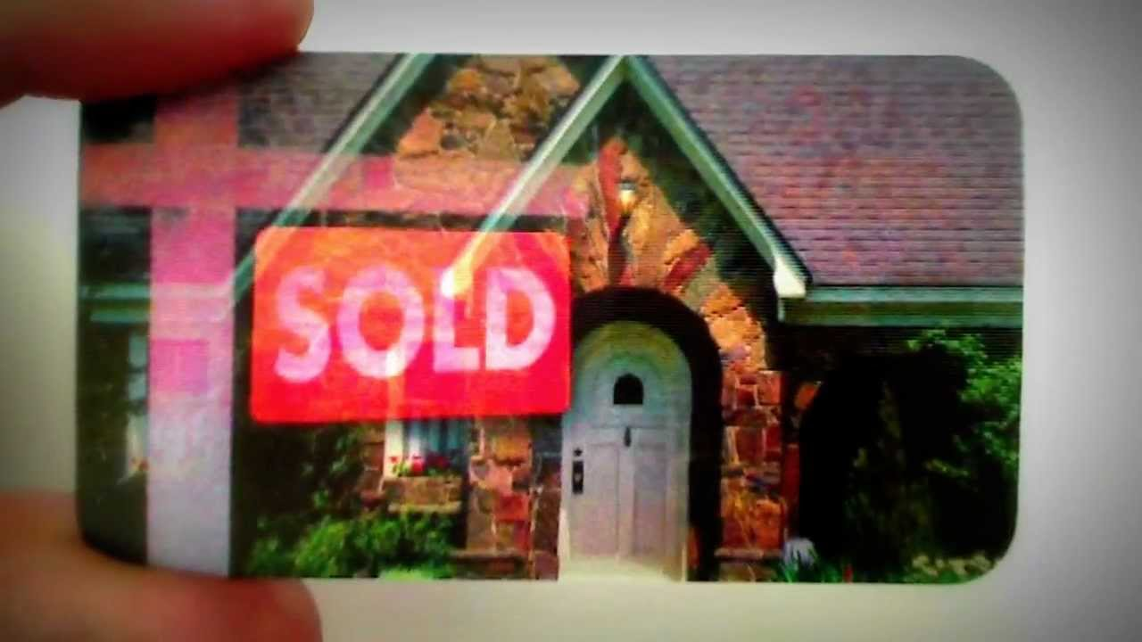 Lenticular Real Estate Business Card - YouTube