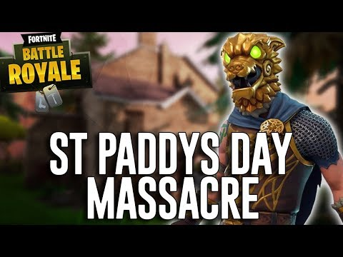 St Paddy's Day Massacre - Fortnite Battle Royale Gameplay - Ninja