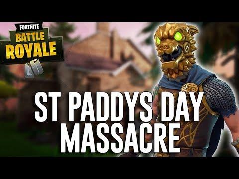 St Paddy's Day Massacre - Fortnite Battle Royale Gameplay - Ninja