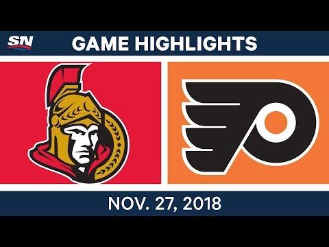 NHL Highlights | Senators vs. Flyers - Nov 27, 2018