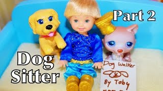 Disney Frozen Anna's Kids Toby Puppy Dog Babysitting Barbie Playset Toy P2 Barbie Videos Playset