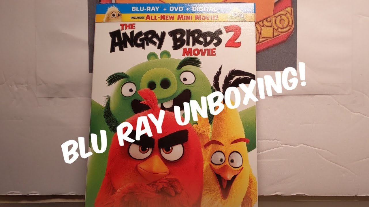 The Angry Birds 2 Movie Blu Ray Dvd Digital Code Unboxing