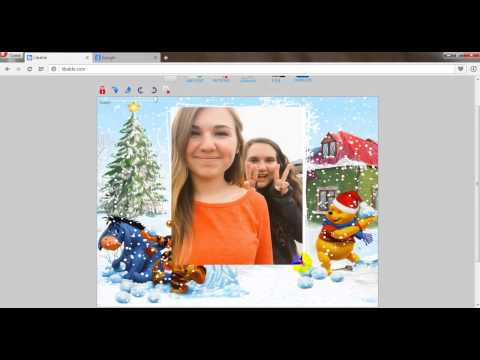 Create Christmas Frame photo for your picture online by labable.com