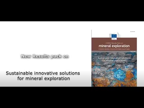 Sustainable innovative solutions for mineral exploration