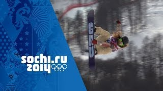 Jamie Anderson's Snowboard Slopestyle Full Gold Medal Run | Sochi 2014 Winter Olympics