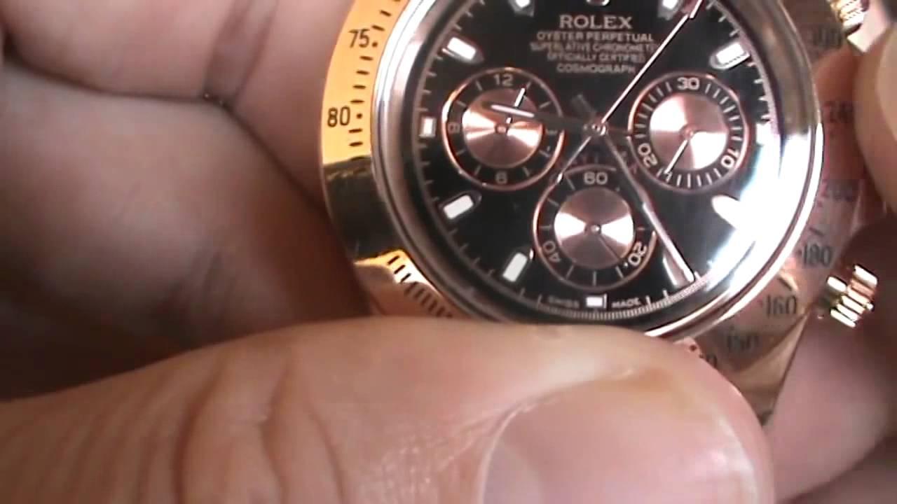 77d41a395c2 ROLEX-UNBOXING- Rolex Daytona Rose Fundo Preto - YouTube